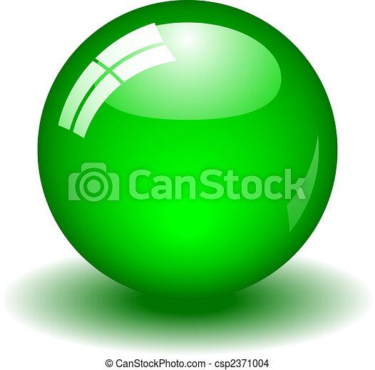 pelota, verde, brillante - csp2371004