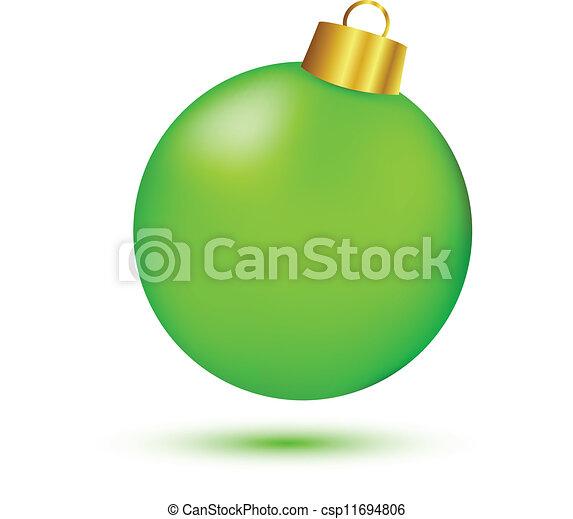 Bola de Navidad verde - csp11694806