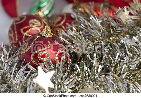 Pelotas Cadenas Navidad Motivos Pelotas Chains Rojo - Motivos-navidad