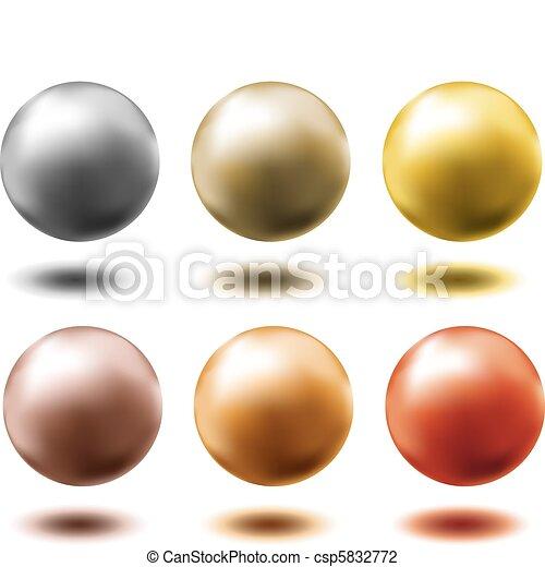 Un juego de pelotas de metal - csp5832772