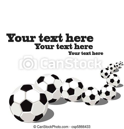 Pelotas de fútbol seguidas. - csp5866433