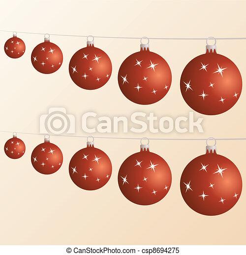 Bolas de Navidad - csp8694275