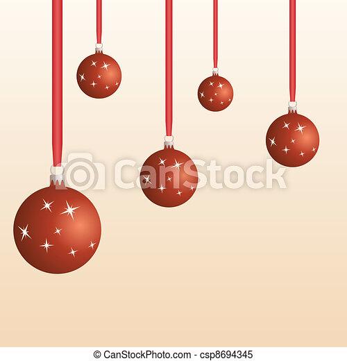 Bolas de Navidad - csp8694345