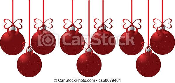 Bolas de Navidad - csp8079484