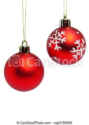 Bolas rojas de Navidad - csp0159093