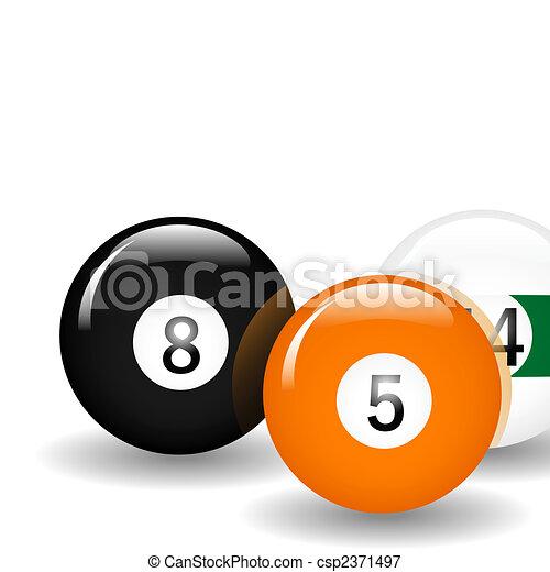 Bolas de billar - csp2371497