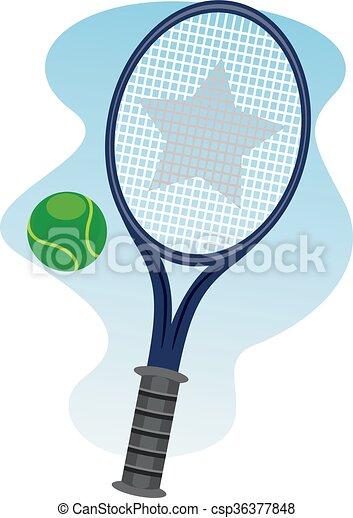 pelouse, boule tennis - csp36377848