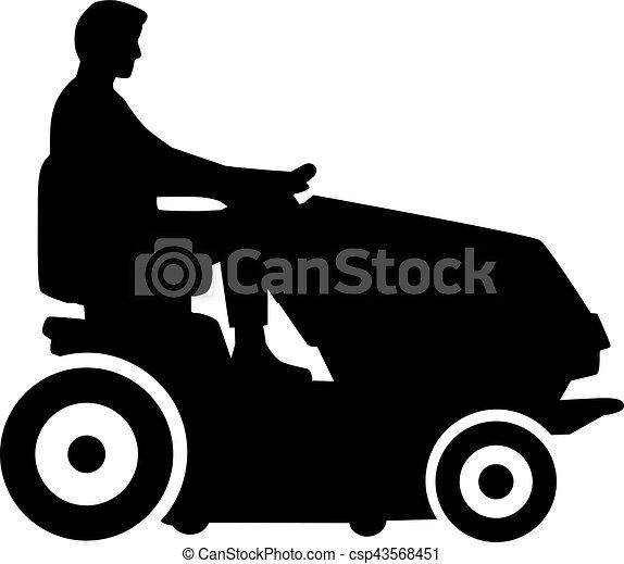pelouse, conduite homme, faucheur - csp43568451
