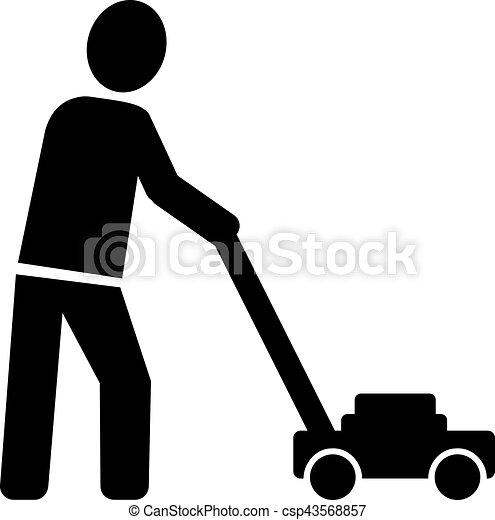pelouse, icône, jardinier, faucheur - csp43568857