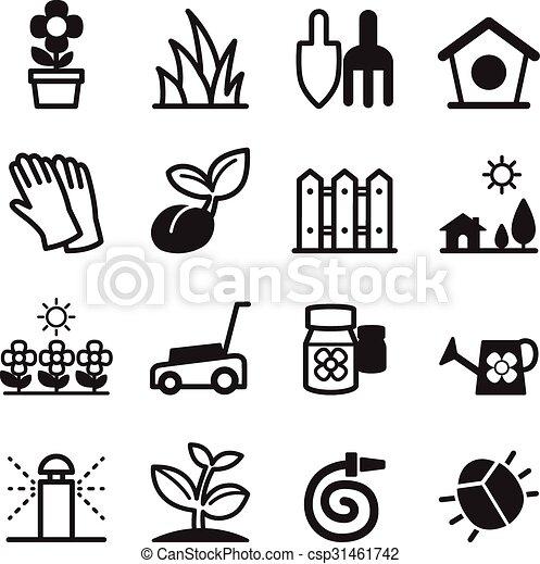 pelouse, icônes - csp31461742