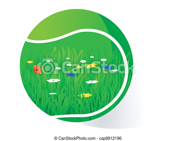 pelouse, tennis - csp9912196