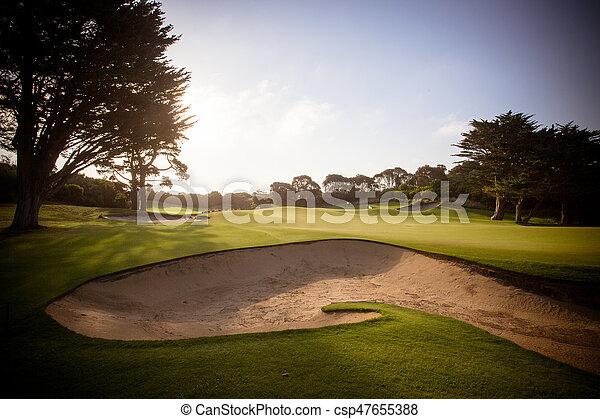 Campo de golf de la península Mornington - csp47655388