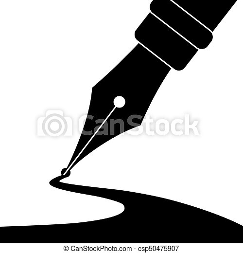 pen and ink editable vector illustration of an ink pen drawing a line rh canstockphoto com vector pendulum vector pengantin jawa