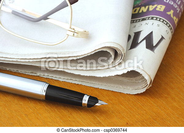 pen, avis, glas - csp0369744