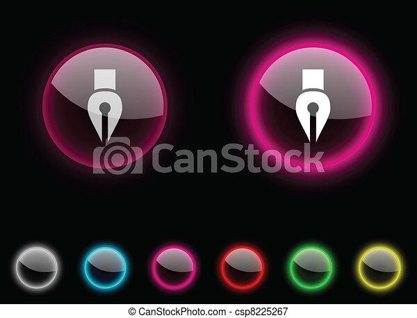 Pen button. - csp8225267