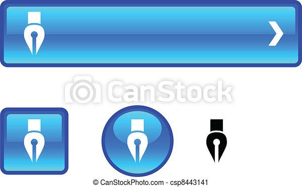 Pen button set. - csp8443141