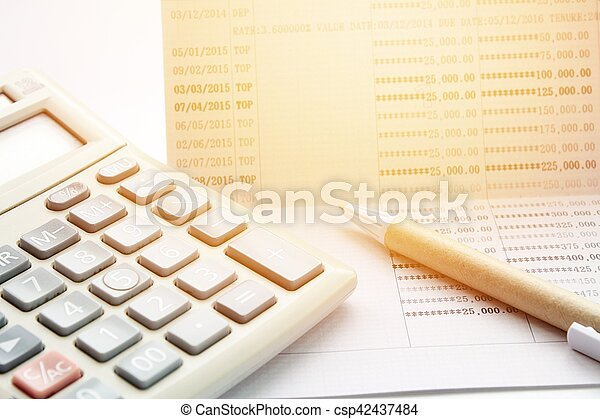 Business, finance savings or mortgage background concept ; pen ...