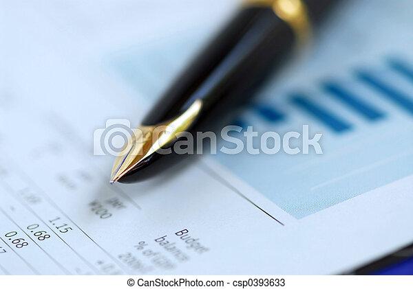 Pen finance graph - csp0393633