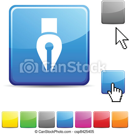 Pen glossy button. - csp8425405