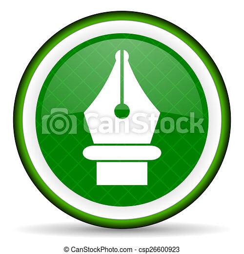 pen green icon - csp26600923