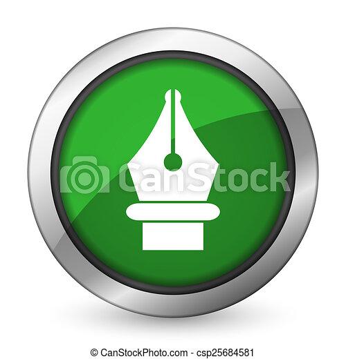 pen green icon - csp25684581