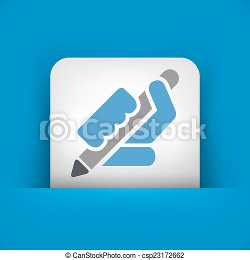 Pen icon - csp23172662