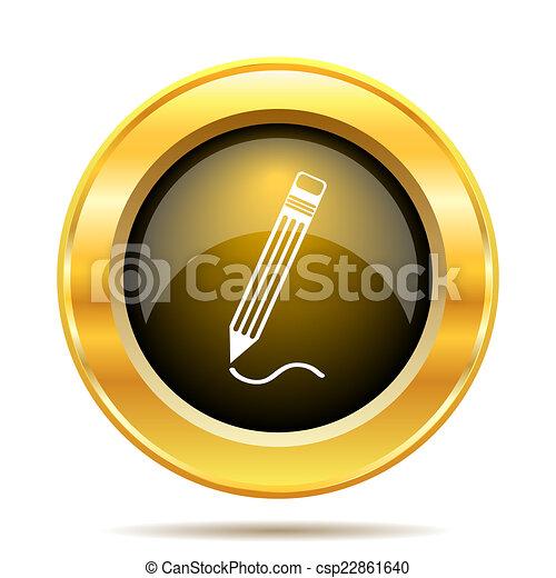 Pen icon - csp22861640