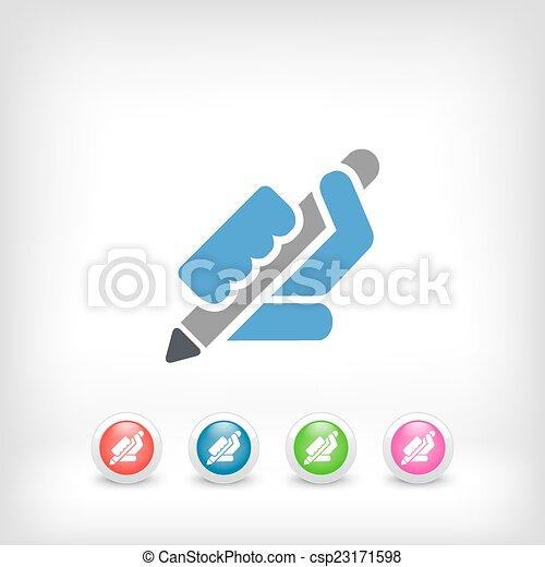 Pen icon - csp23171598
