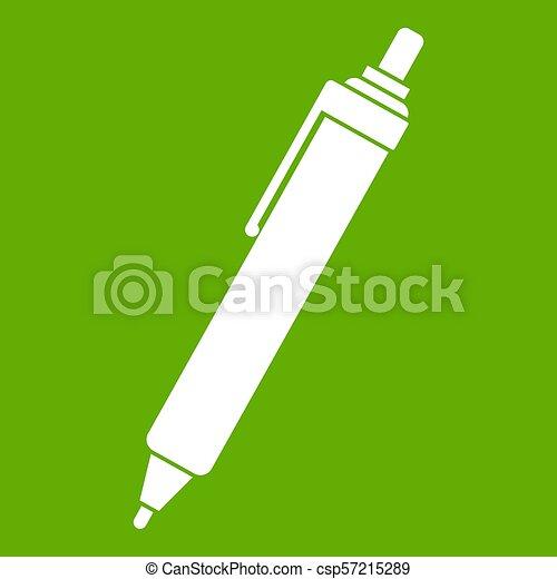 Pen icon green - csp57215289