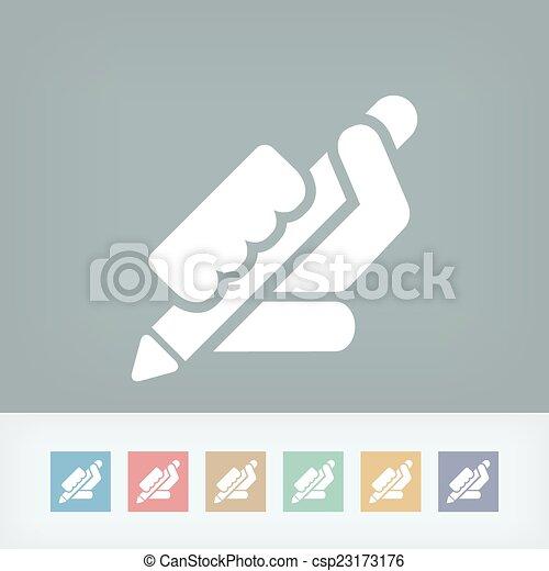 Pen icon - csp23173176