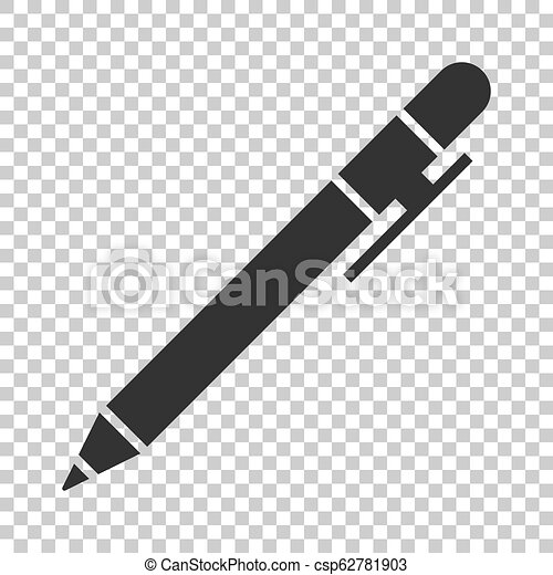 Pen icon in flat style. Highlighter vector illustration on isolated background. Pen business concept. - csp62781903
