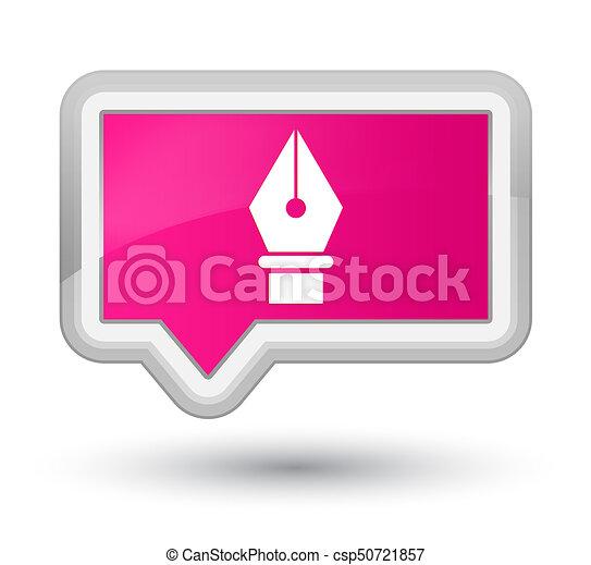 Pen icon prime pink banner button - csp50721857