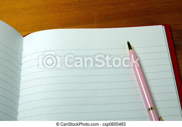 pen on a notebook - csp0605483