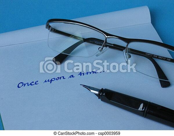 Pen Paper Glasses - csp0003959