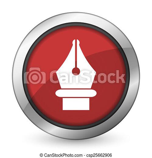 pen red icon - csp25662906