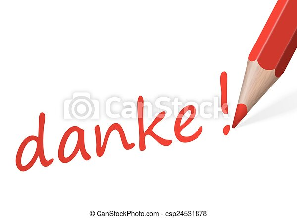 "Pen with text "" danke! "" - csp24531878"