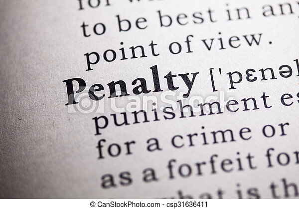 Penalty Stock Photo