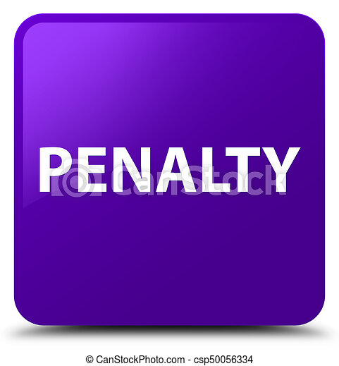 Penalty purple square button - csp50056334