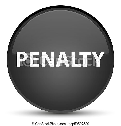 Penalty special black round button - csp50507829