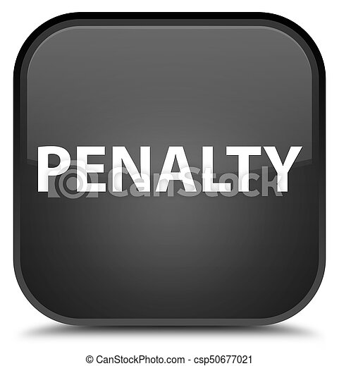 Penalty special black square button - csp50677021