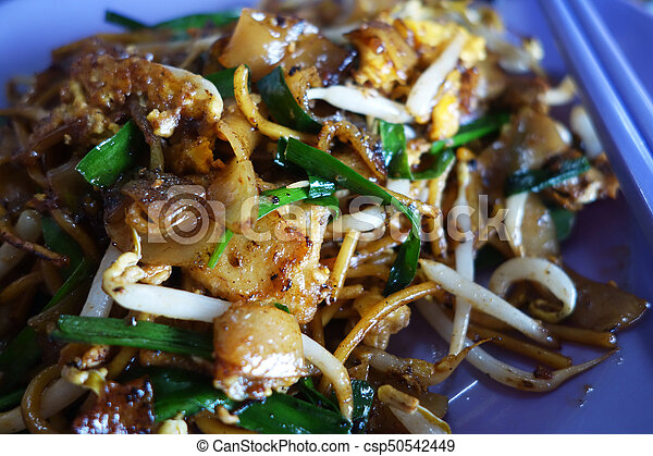 Penang Char Kway Teow Fried Wide Rice Noodles - csp50542449