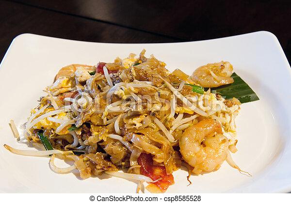 Penang Char Kway Teow Noodles - csp8585528