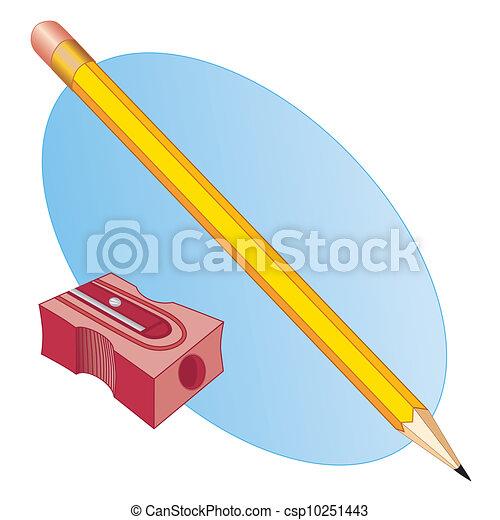 Pencil and Sharpener - csp10251443