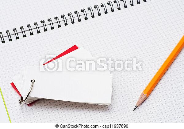 pencil and wordbook - csp11937890