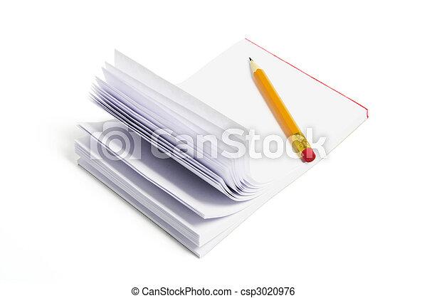 Pencil and Writing Pad - csp3020976