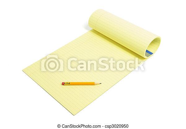 Pencil and Writing Pad - csp3020950