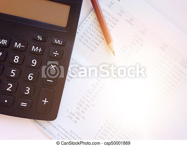 Business, finance, savings or loan background concept ; pencil ...