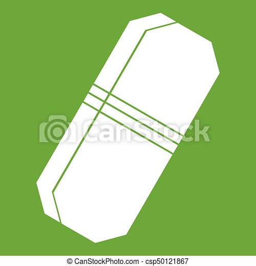 Pencil eraser icon green - csp50121867