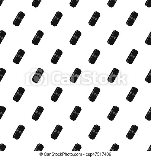 pencil eraser pattern seamless in simple style illustration