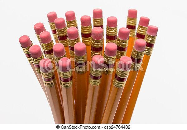 Pencil erasers - csp24764402
